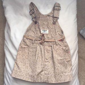 Adorable animal print overall dress